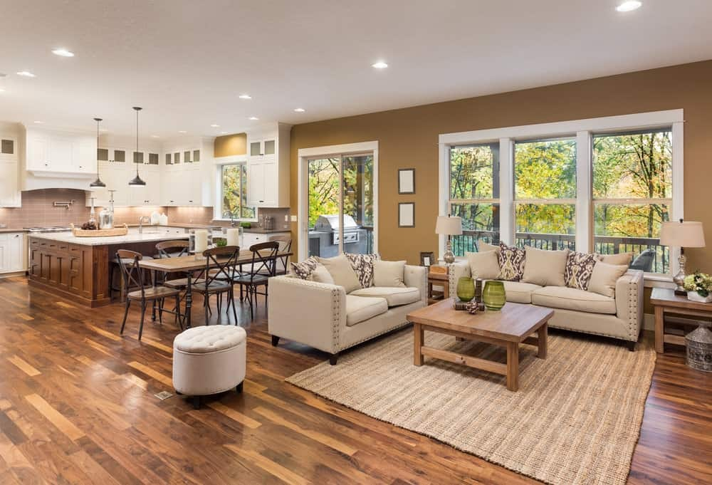 What types of hardwood floors are most comfortable to keep?