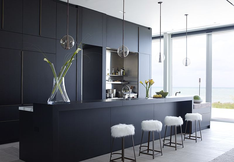 Will your small kitchen look with black cabinets?