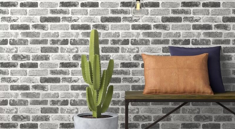 New Workspace Trend – Faux Brick Wallpaper