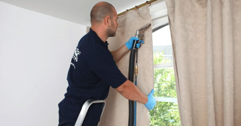 Tips for cleaning curtains at home?
